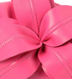 Bolsa Tiracolo Rosa Couro Lily Média