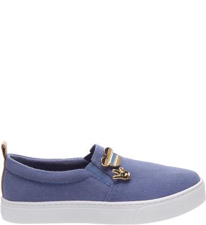Disney | Tênis Slip-on Pins Azul Jeans