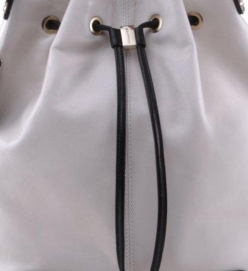 Bolsa Bucket Couro Branca