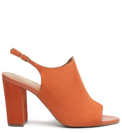 Sandal Boot Marrom Nobuck Bloco Romantic