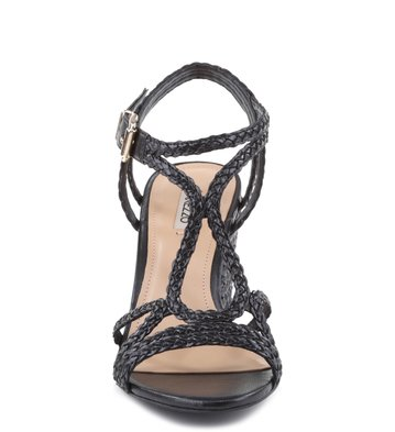 Sandália Salto Tranças Preto