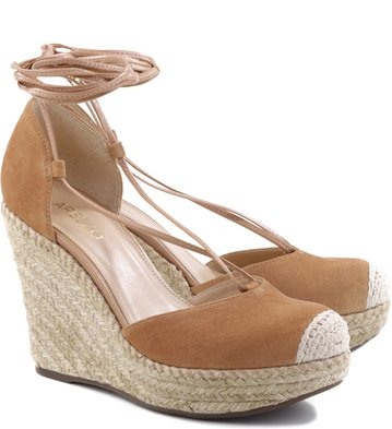 Espadrille Rustic Lace-up Tan