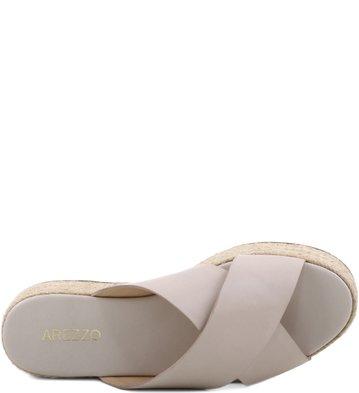 Flatform Tiras Cruzadas Off-White