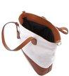 Bolsa Shopping Bicolor Tan