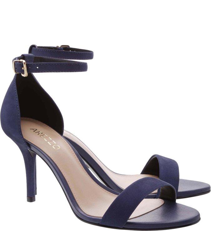 Sandália Isabelli Nobuck Navy Blue
