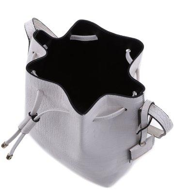 Bolsa Bucket Croco Branca