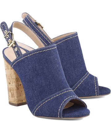 Sandália Cork Denim