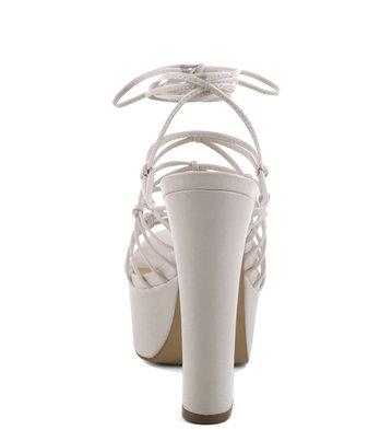 Plataforma Glam Lace-Up Off-White