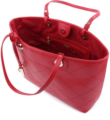 Bolsa Shopping Matelassê Vermelha