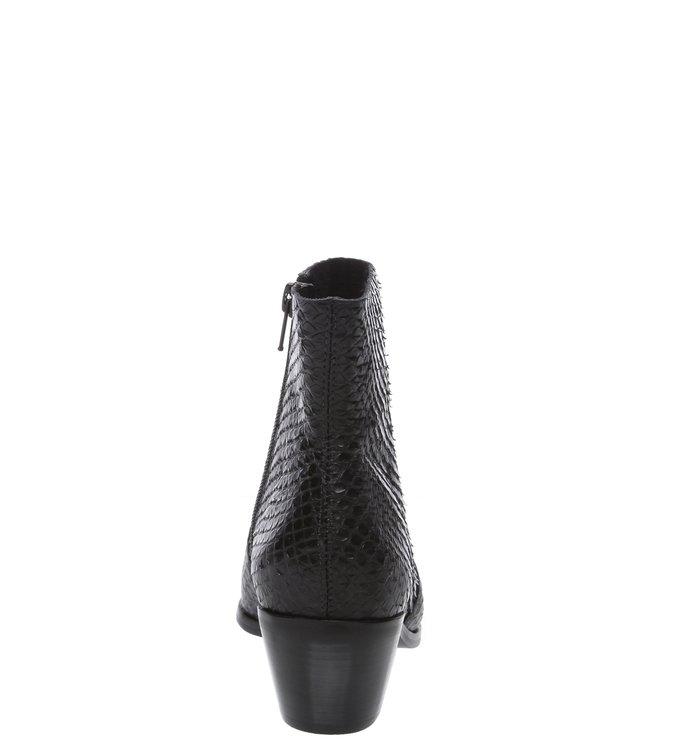 Ankle Boot Couro Skin West Preta