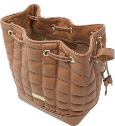 Bolsa Bucket Couro Gallura Grande Pale Nut