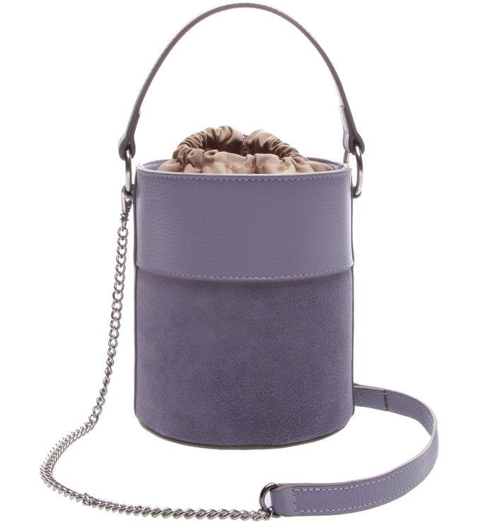 Bolsa Couro Tiracolo Pequena Nina Sumer Lilac