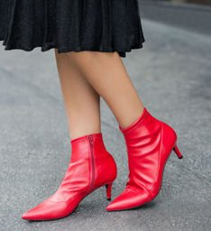 Skinny Boot Salto Fino Royal Red
