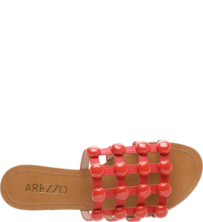 Chinelo Couro Bolas Royal Red