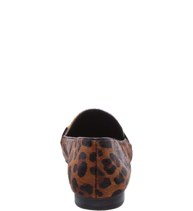 Mocassim Pelo Fivela Leopardo