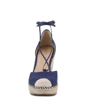 Espadrille Rustic Lace-up Denim