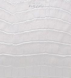 Bolsa Tiracolo Pequena Couro Abraccio Croco Bianco