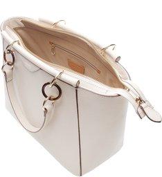 Bolsa Couro Shopping Grande Pierina Off White