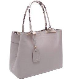 Bolsa Couro Shopping Auguri Cinza