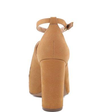 Sandália Bordado Folk Camel