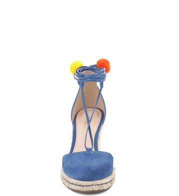 9bd41d261 Espadrille Lace-up Pompom Blue-Marine | Arezzo
