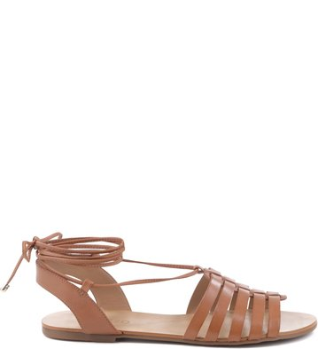 Rasteira Lace Up Tan