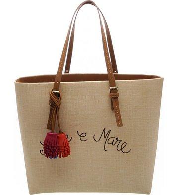 9e34c525cd Bolsa Shopping Sole   Mare Palha