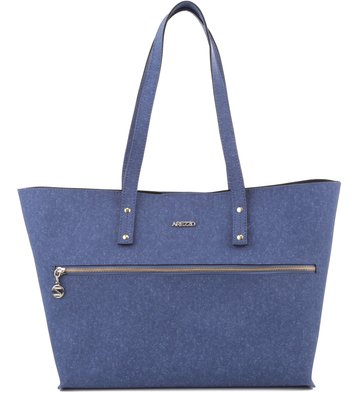 Bolsa Shopping Zíper Denim