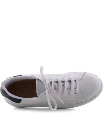 Tenis Branco com Detalhe Preto