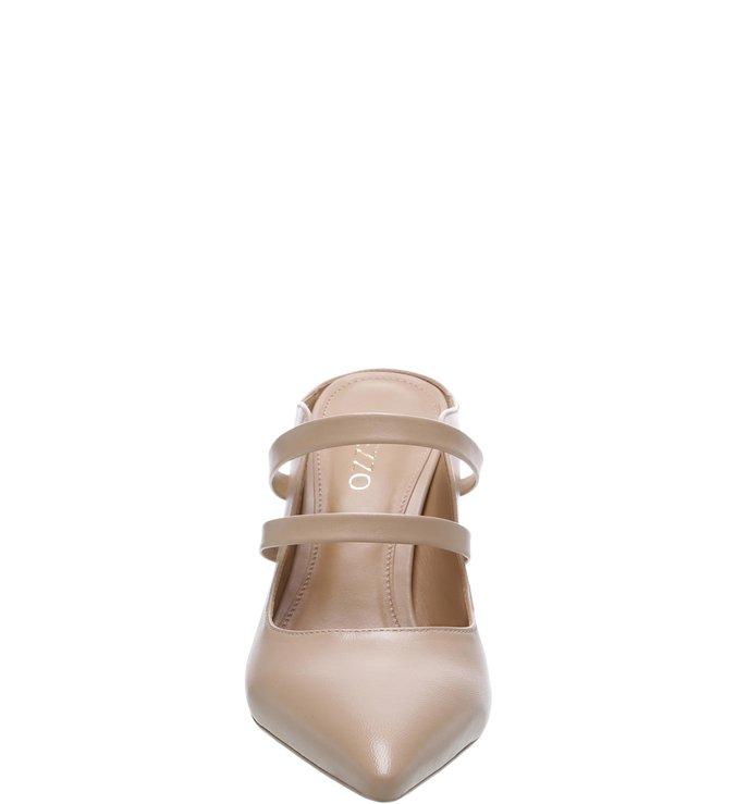 Mule Couro Aberto Tiras Light Cream
