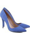 Scarpin Nobuck Azul