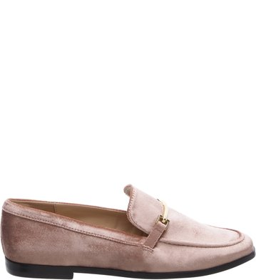Mocassim Rose Veludo Little Metal