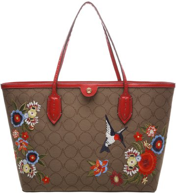 Bolsa Shopping Monograma Vita Bordados