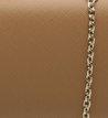 Bolsa Clutch Pequena Estruturada Camel