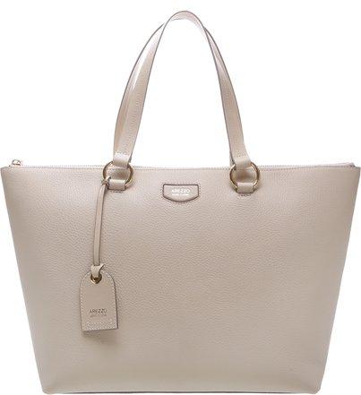 2e60baf103968 Bolsa Couro Shopping Grande Giornata Nero Off White ...