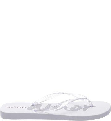 Chinelo Glitter Transparente Branco