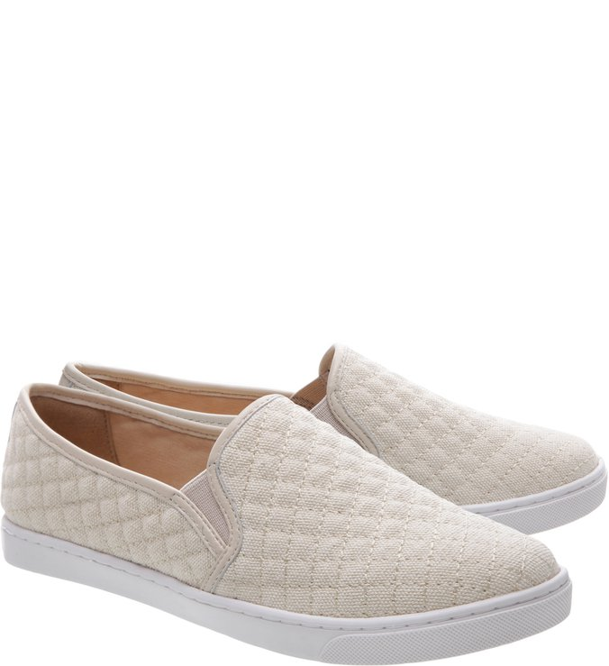 Slip-on Matelassê Pelle Off White