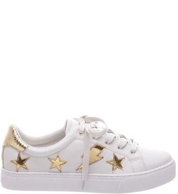 3db56ece88d Tênis Estrelas Branco e Dourado