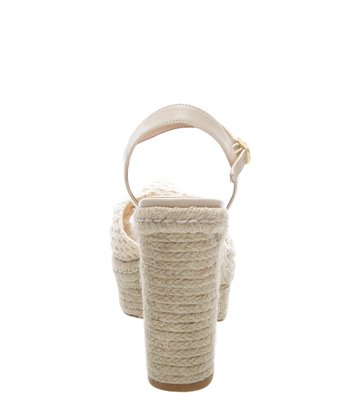 Sandália Plataforma Crochê Natural Off White