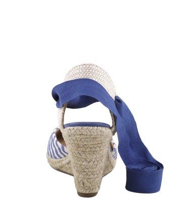 Espadrille Tecido Listras Blue-Marine