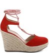 Espadrille Lace-up Suede Flame