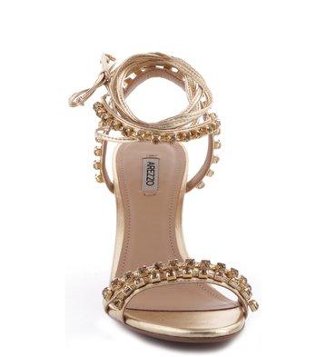 Sandália Pedraria Glam Ouro