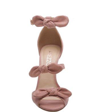 Sandália Nobuck Tiny Bows Feminino Rose Blush