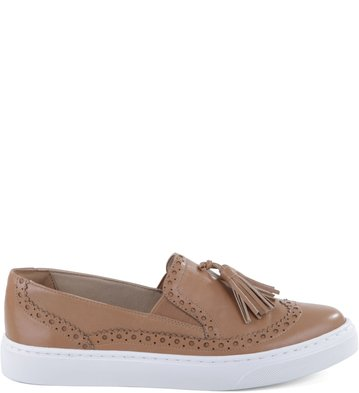 Slip-on Barbicacho Couro Nude-Rose