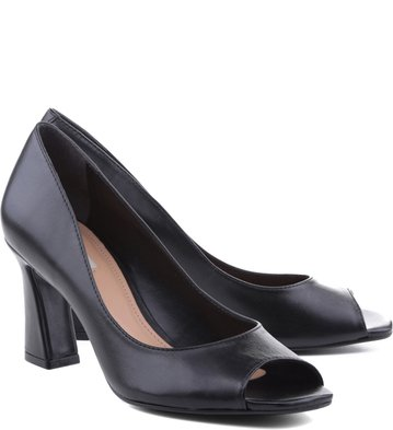 Peep Toe City Preto
