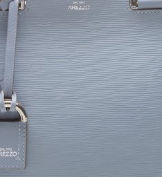 Bolsa Couro Tote Grande Abraccio Crystal Blue