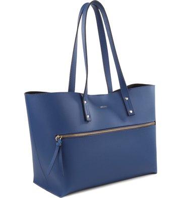 Bolsa Shopping Zíper Blue-Marine