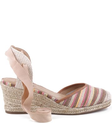 Espadrille Lace Up Listras Multi