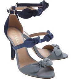 Sandália Nobuck Tiny Bows Feminino Azul
