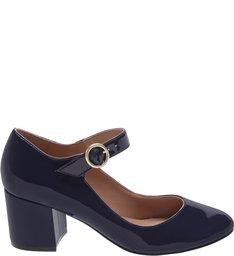 Sapato Boneca Verniz Médio Sea Blue